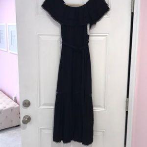 Alice & Olivia nwt black off shoulder long dress